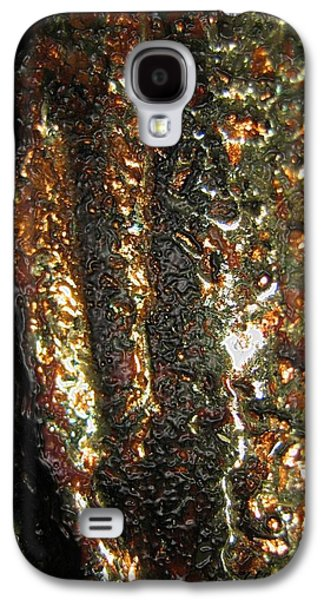 Abstract Digital Ceramics Galaxy S4 Cases - Golden Oil Galaxy S4 Case by Uleria Caramel