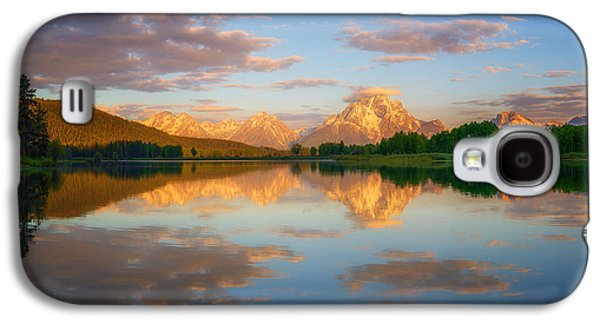Snow Tree Prints Galaxy S4 Cases - Golden Oxbow Light Galaxy S4 Case by Darren  White