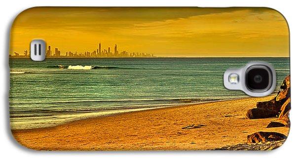 Miami Photographs Galaxy S4 Cases - Golden Paradise Galaxy S4 Case by Az Jackson