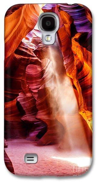 Purple Prints Galaxy S4 Cases - Golden Pillars Galaxy S4 Case by Az Jackson