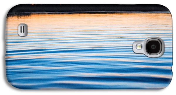Sunset Abstract Galaxy S4 Cases - Golden Ripples Galaxy S4 Case by Parker Cunningham