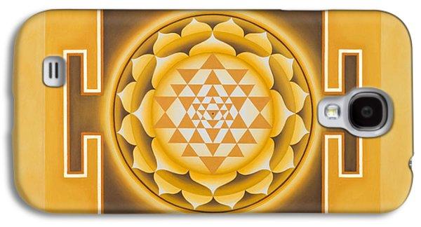 Mandala Galaxy S4 Cases - Golden Sri Yantra - The Original Galaxy S4 Case by Piitaa - Sacred Art
