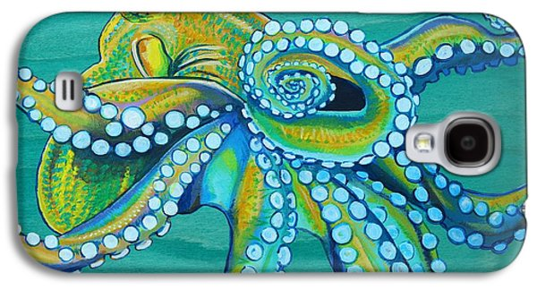 Golden Fish Paintings Galaxy S4 Cases - Golden Tako Galaxy S4 Case by Emily Brantley