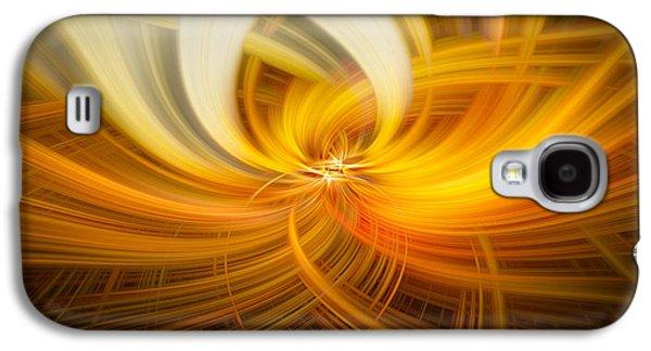 Walden Pond Galaxy S4 Cases - Golden Twirls Galaxy S4 Case by Noah Katz