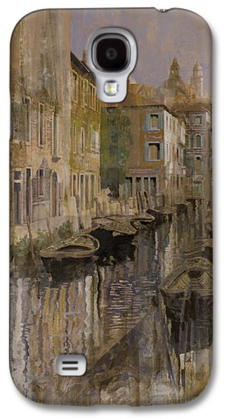 Steamboat Galaxy S4 Cases - Golden Venice Galaxy S4 Case by Guido Borelli
