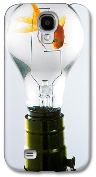 Light Bulb Galaxy S4 Cases - Goldfish in light bulb  Galaxy S4 Case by Garry Gay