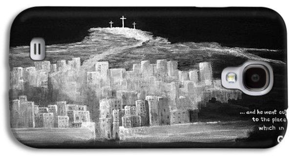 Crucifixtion Galaxy S4 Cases - Golgatha Galaxy S4 Case by William Walts