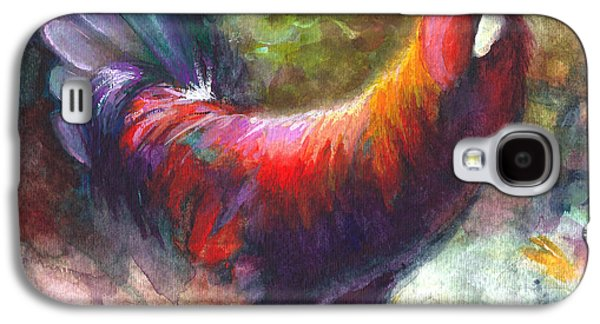 Pride Paintings Galaxy S4 Cases - Gonzalez the Rooster Galaxy S4 Case by Talya Johnson