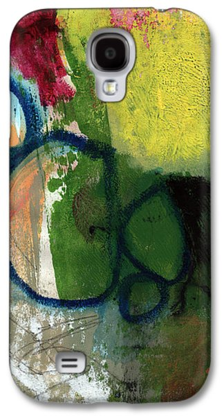 Red Abstract Mixed Media Galaxy S4 Cases - Good Day-Abstract Painting by Linda Woods Galaxy S4 Case by Linda Woods