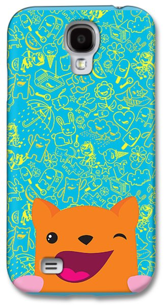 Cartoon Galaxy S4 Cases - Good luck Galaxy S4 Case by Seedys