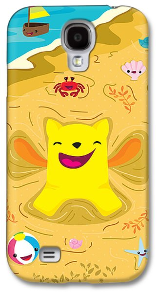 Child Galaxy S4 Cases - Good vibes at the beach Galaxy S4 Case by Seedys