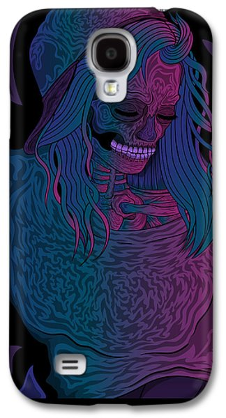 Good Vibes Skelegirl Galaxy S4 Case by Raphael Lopez