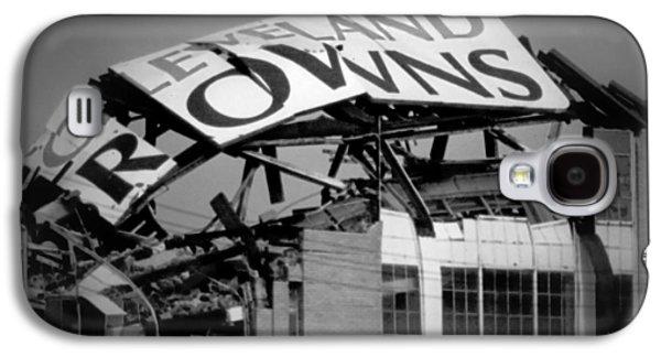 Football Galaxy S4 Cases - Goodbye Cleveland Stadium Galaxy S4 Case by Kenneth Krolikowski