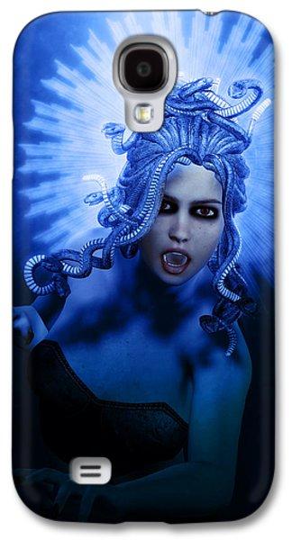Gorgon Blue Galaxy S4 Case by Joaquin Abella