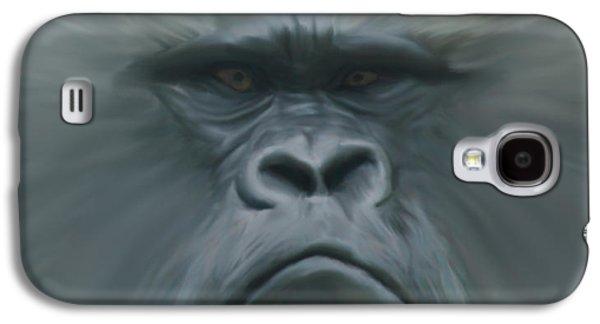 Gorilla Digital Galaxy S4 Cases - Gorilla Freehand abstract Galaxy S4 Case by Ernie Echols
