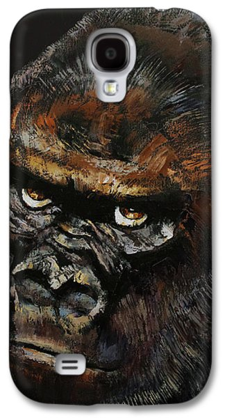 Trippy Paintings Galaxy S4 Cases - Gorilla Galaxy S4 Case by Michael Creese