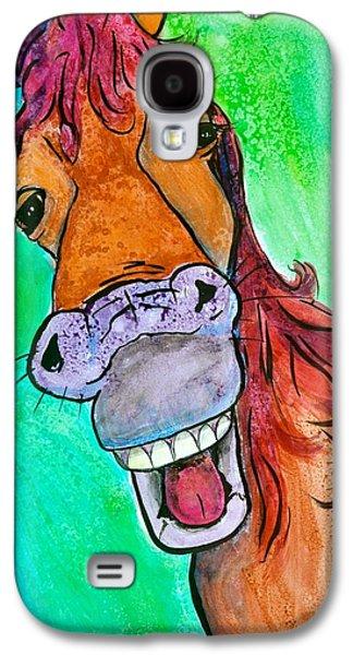 Smiling Mixed Media Galaxy S4 Cases - Gossip Galaxy S4 Case by Debi Starr