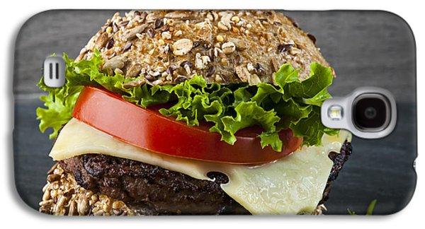Slider Photographs Galaxy S4 Cases - Gourmet hamburger Galaxy S4 Case by Elena Elisseeva