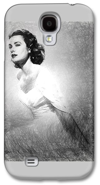 Grace Kelly Sketch Galaxy S4 Case by Quim Abella