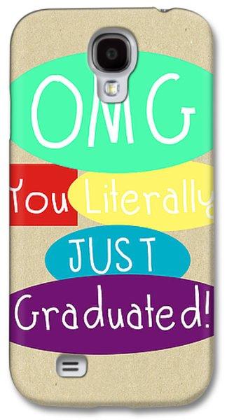 Graduation Galaxy S4 Cases - Graduation Card Galaxy S4 Case by Linda Woods