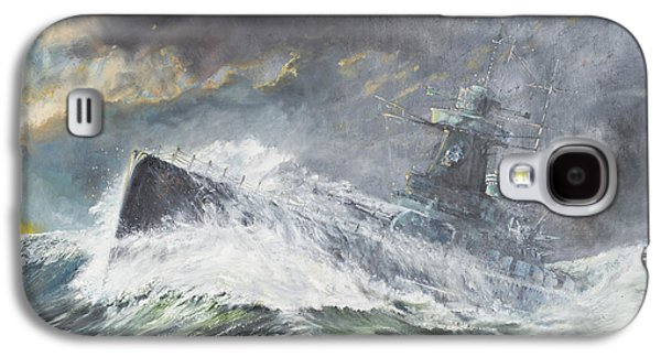 Sailing Ship Galaxy S4 Cases - Graf Spee enters the Indian Ocean Galaxy S4 Case by Vincent Alexander Booth
