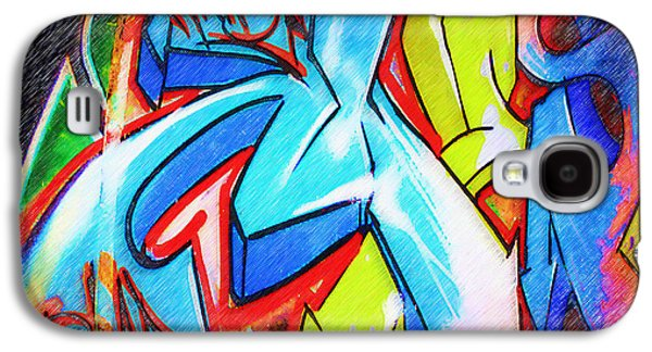 Splashy Art Galaxy S4 Cases - Graffiti Art 51 Galaxy S4 Case by Cindy Nunn