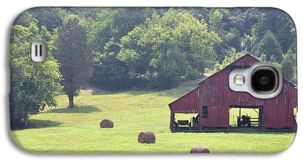 Tennessee Hay Bales Galaxy S4 Cases - Grampas Summer Barn Galaxy S4 Case by Jan Amiss Photography