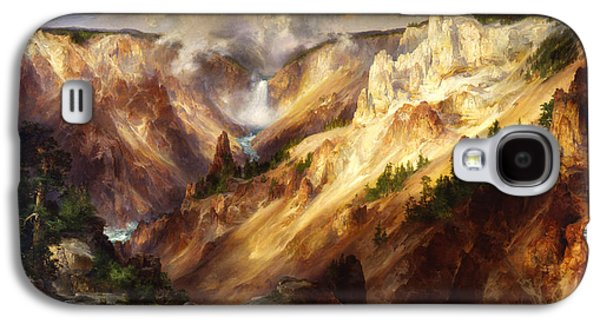Yellowstone Digital Galaxy S4 Cases - Grand Canyon Of The Yellowstone Galaxy S4 Case by Thomas Moran