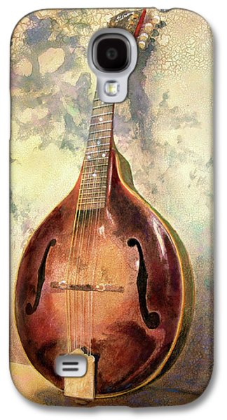 Antiques Paintings Galaxy S4 Cases - Grandaddys Mandolin Galaxy S4 Case by Andrew King