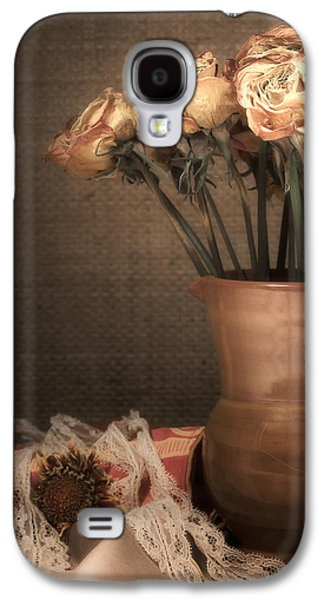 """indoor"" Still Life Photographs Galaxy S4 Cases - Grandmas Roses Galaxy S4 Case by Wim Lanclus"