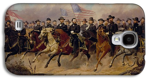 War Paintings Galaxy S4 Cases - Grant and His Generals Galaxy S4 Case by War Is Hell Store