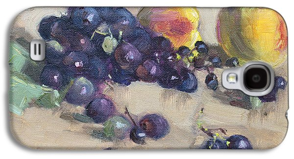 Peaches Galaxy S4 Cases - Grape and Peach Galaxy S4 Case by Ylli Haruni