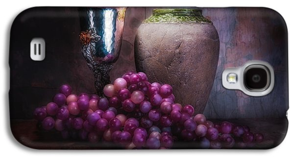 Grapes And Silver Goblet Galaxy S4 Case by Tom Mc Nemar