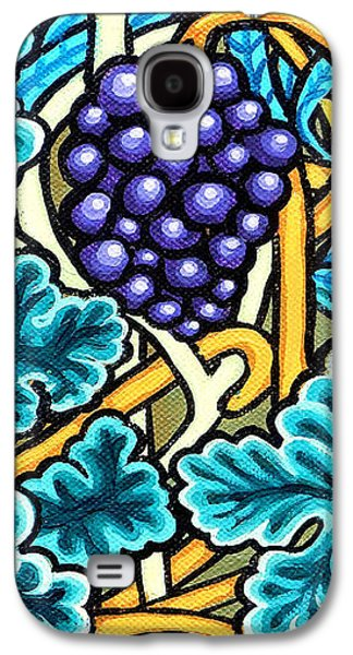 Grapes Art Deco Galaxy S4 Cases - Grapes Galaxy S4 Case by Genevieve Esson