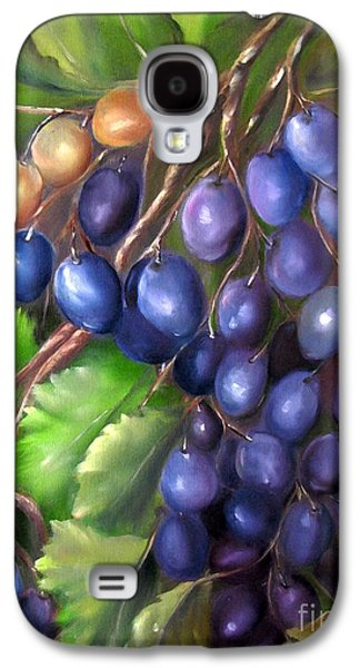 Concord Grapes Galaxy S4 Cases - Grapevine Galaxy S4 Case by Carol Sweetwood