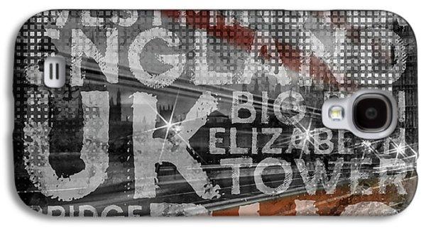 Graphic Art London Red Bus Galaxy S4 Case by Melanie Viola