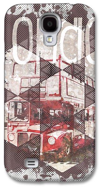 Graphic Art London Streetscene Galaxy S4 Case by Melanie Viola