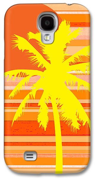 Nature Abstracts Galaxy S4 Cases - Graphic Palm Tree Il Galaxy S4 Case by Kathy Franklin