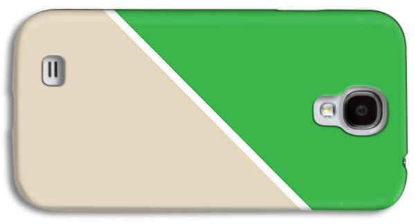Green Galaxy S4 Cases - Grass and Sand Geometric Galaxy S4 Case by Linda Woods