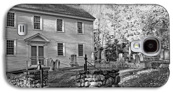 Graveyard Galaxy S4 Cases - Graveyard Old Country Church Black and White Photo Galaxy S4 Case by Keith Webber Jr