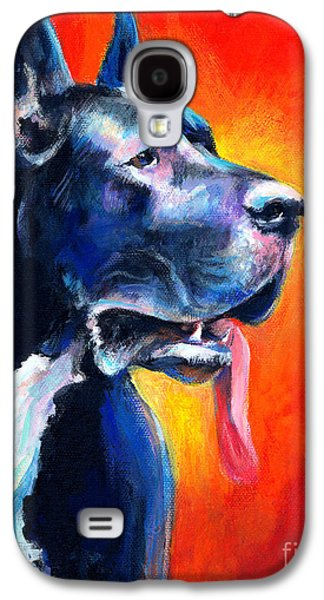 Austin Drawings Galaxy S4 Cases - Great Dane dog portrait Galaxy S4 Case by Svetlana Novikova