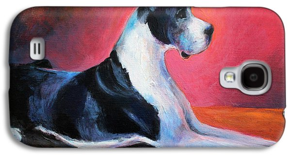 Photo Drawings Galaxy S4 Cases - Great Dane painting Svetlana Novikova Galaxy S4 Case by Svetlana Novikova