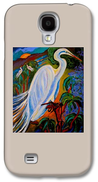 Bird Ceramics Galaxy S4 Cases - Great Egret Galaxy S4 Case by Carol Keiser
