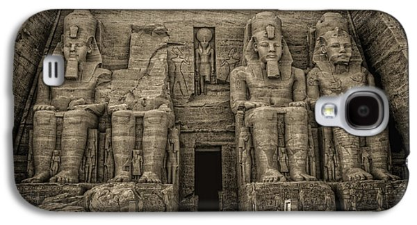 Ancient Galaxy S4 Cases - Great Temple Abu Simbel  Galaxy S4 Case by Nigel Fletcher-Jones