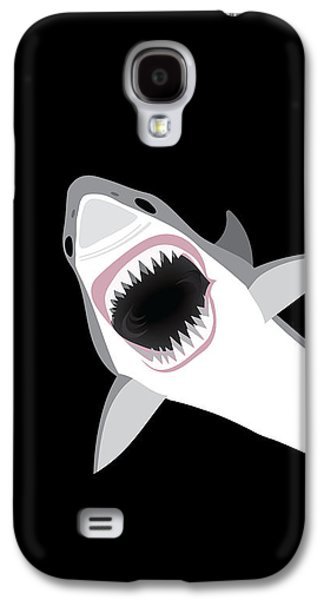Great White Shark Galaxy S4 Case by Antique Images