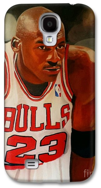 Michael Jordan Paintings Galaxy S4 Cases - Greatness part1 Galaxy S4 Case by Jason Majiq Holmes