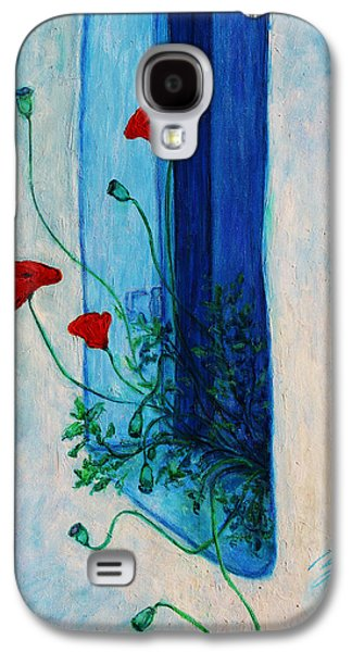 Greek Icon Paintings Galaxy S4 Cases - Greek Poppies Galaxy S4 Case by Xueling Zou