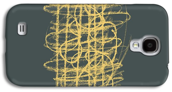 Green And Gold 1 Galaxy S4 Case by Julie Niemela