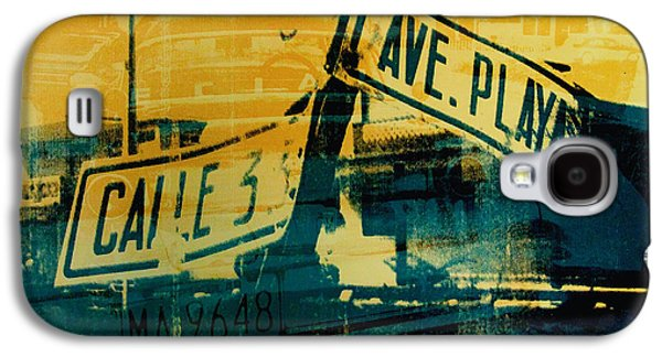 Screen Print Galaxy S4 Cases - Green and Yellow Street Sign Galaxy S4 Case by David Studwell