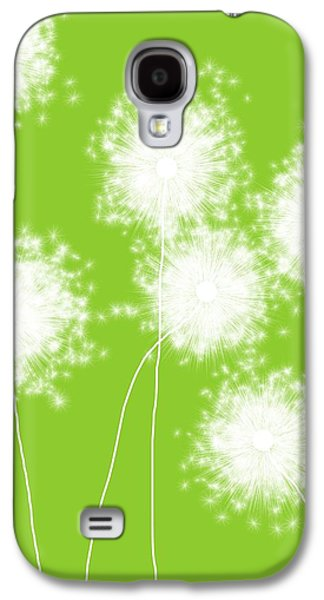 Abstract Nature Galaxy S4 Cases - Green apple dandelions Galaxy S4 Case by Teri Martin